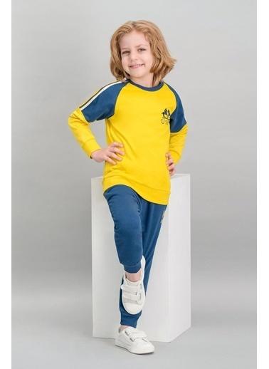 U.S. Polo Assn. U.S. Polo Assn Lisanslı Sarı Erkek Çocuk Eşofman Takımı Sarı